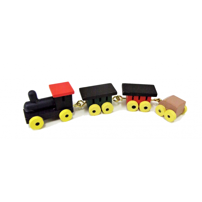 Dolls House Miniature Shop Nursery Accessory Wooden Traditional Boys Toy Train