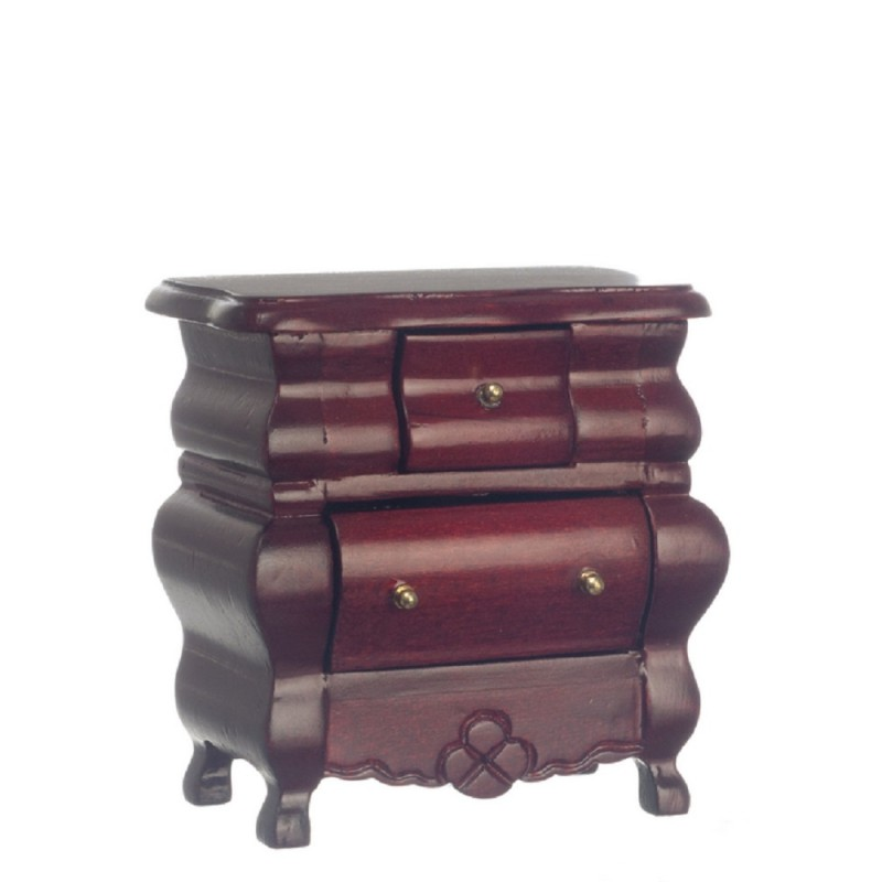 Dolls House Fancy Victorian Bedside Chest Miniature Mahogany Bedroom Furniture