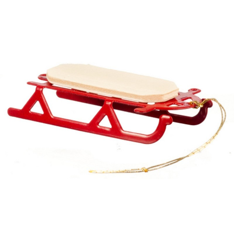 Dolls House 1:24 Scale Miniature Christmas Accessory Flyer Sledge Sled Sleigh