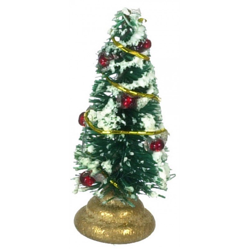 Dolls House Miniature Christmas Ornament Accessory Mini Decorated Xmas Tree