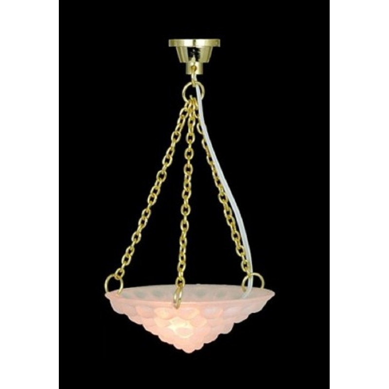 Dolls House Hanging Bubble Shade Ceiling light  Miniature 12V Electric Lighting