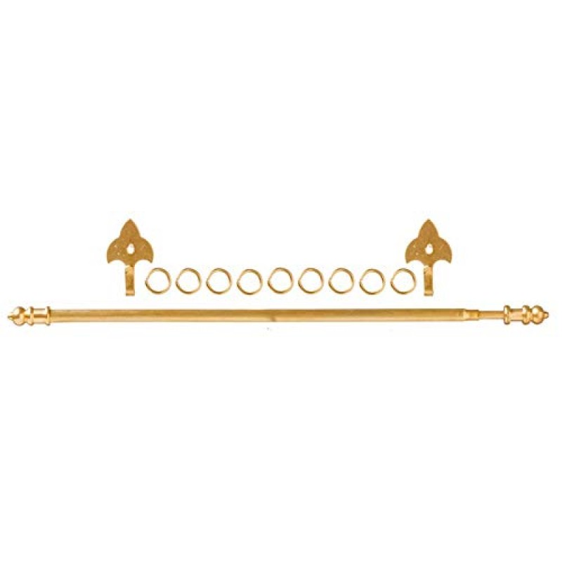 Dolls House Brass Expanding Curtain Rail Rod Pole Miniature Window Accessory