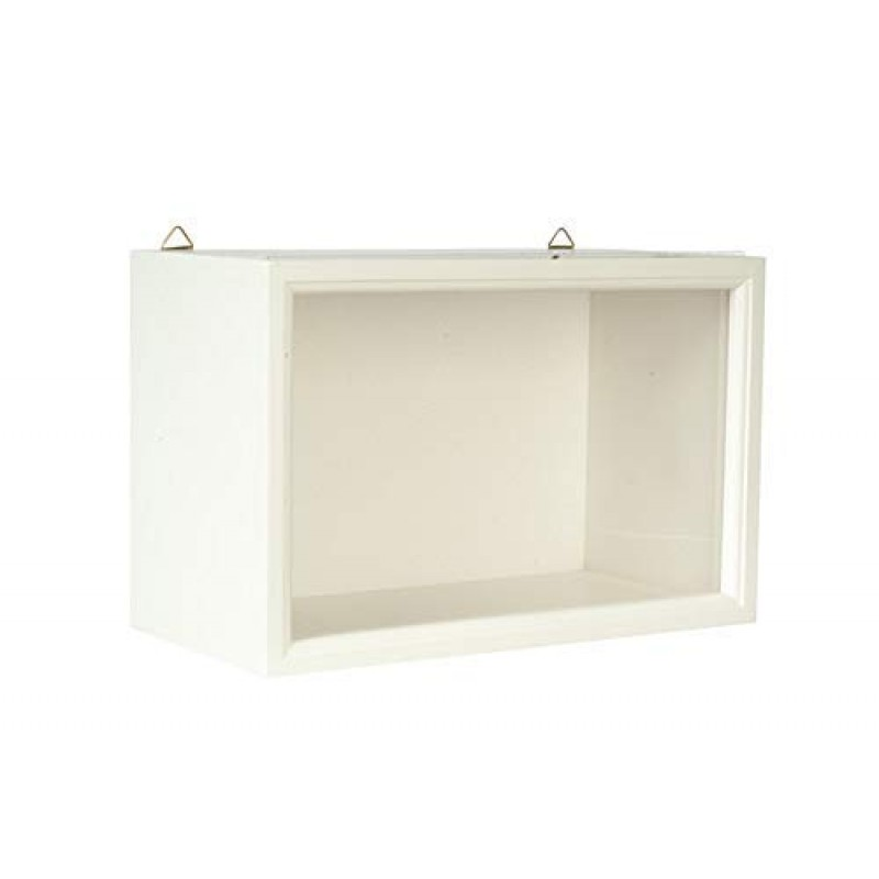 Dolls House White Shadow Room Box For Display of Miniatures Ready Assembled