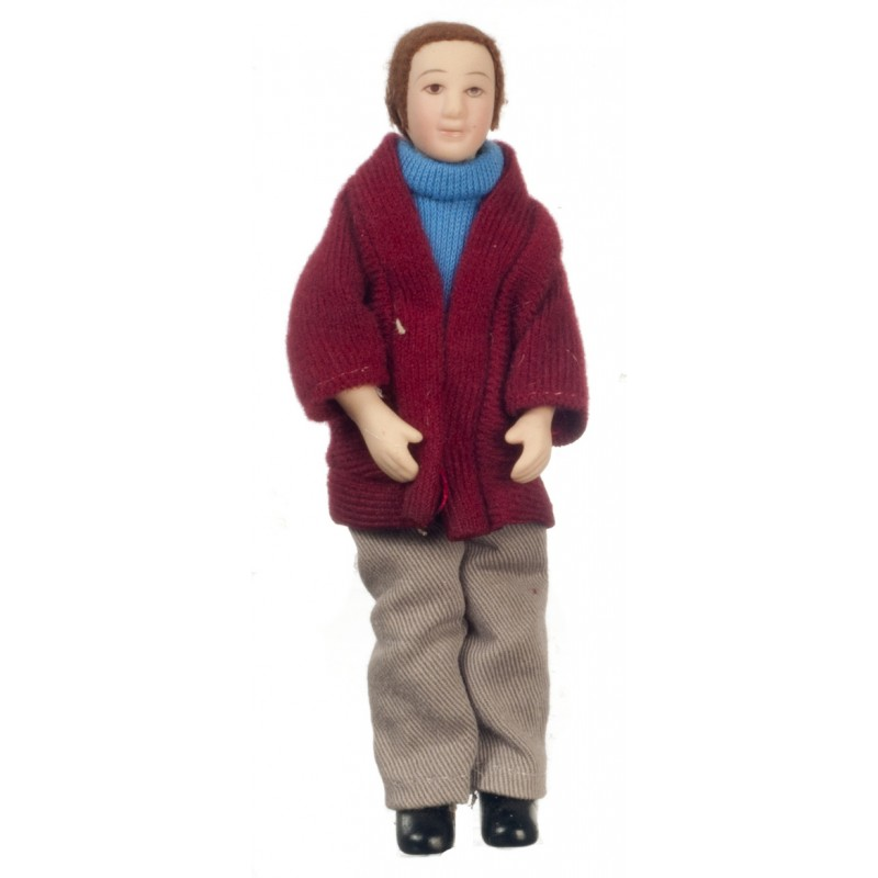 Dolls House Miniature People 1:12 Scale Modern Porcelain Man Gentleman Father