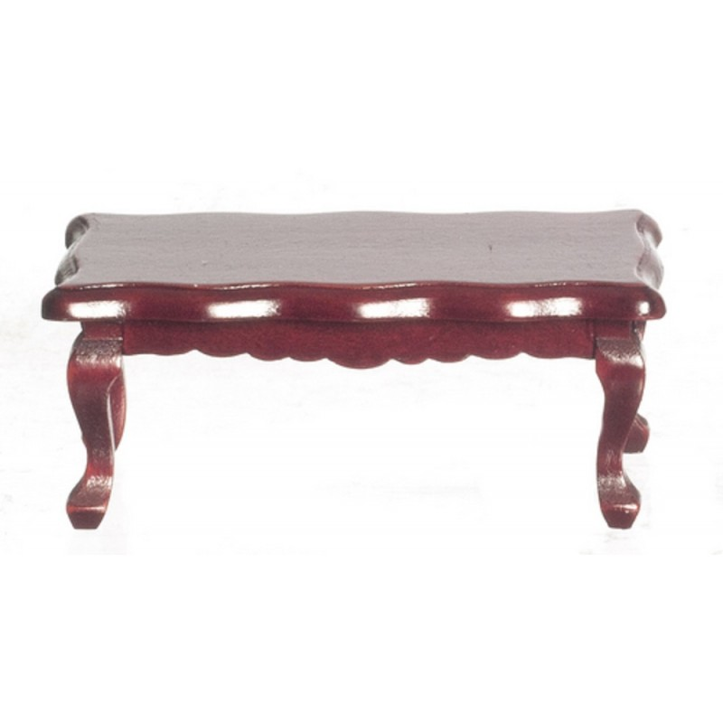 Dolls House Mahogany Scalloped Coffee Table Victorian 1:12 Living Room Furniture