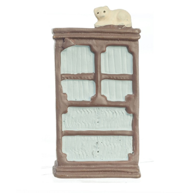 Dolls House Armoire Cupboard 1:48 Scale 1/4 inch Mini Bedroom Furniture