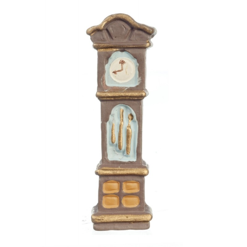 Dolls House Grandfather Clock 1:48 Scale 1/4 inch Mini Miniature Hall Furniture