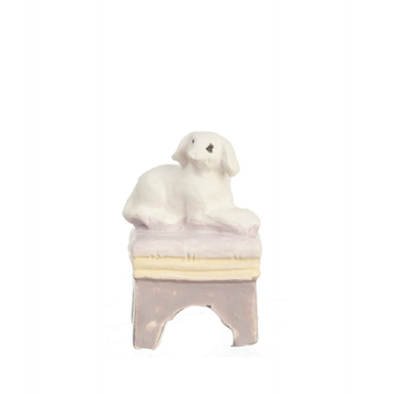 Dolls House Dog on Stool 1:48 Scale 1/4 inch Mini Any Room Furniture