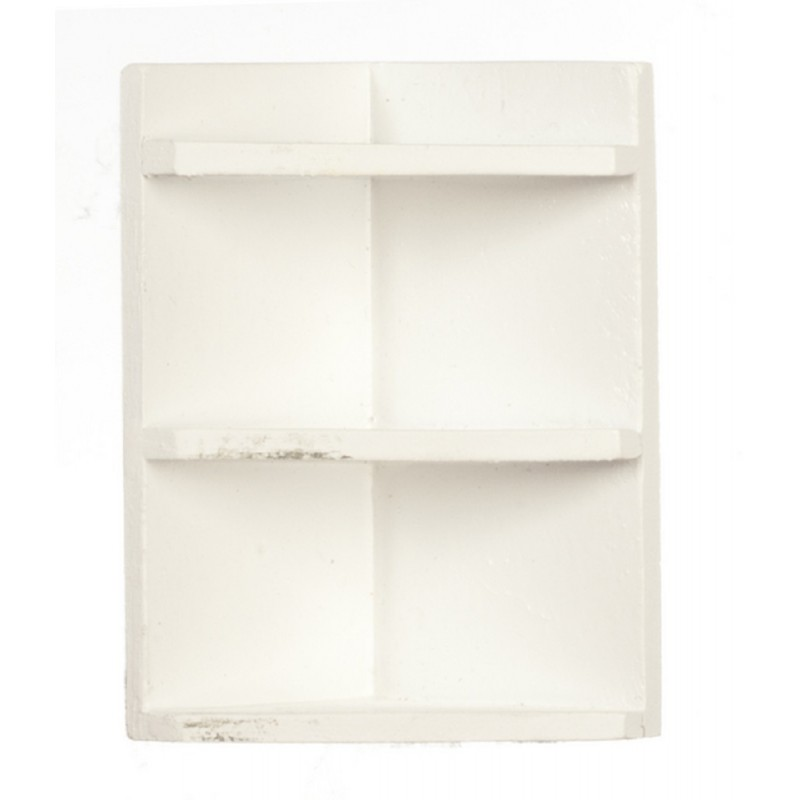 Dolls House White Corner Wall Shelf Miniature 1:12 Scale Accessory