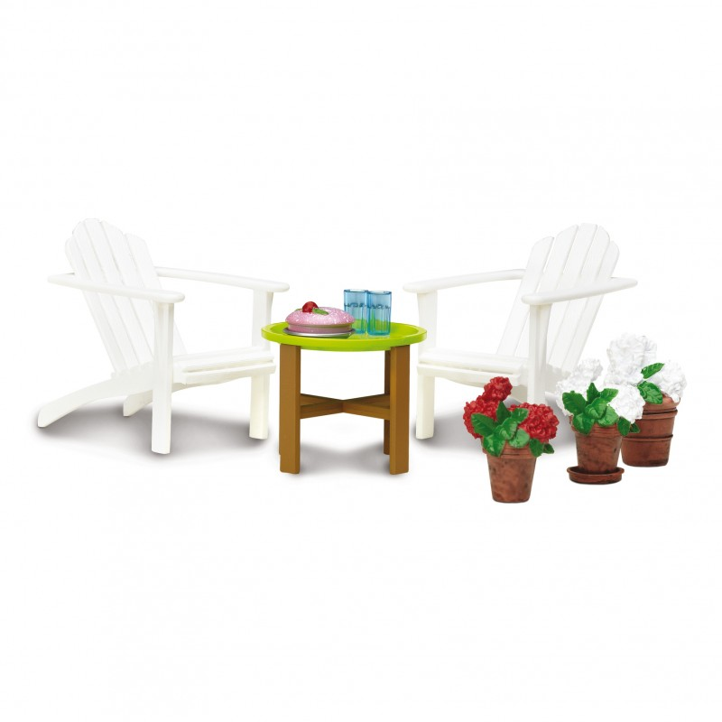 Lundby Dolls House Garden Patio Terrace Furniture Set Table Chairs & Accessories