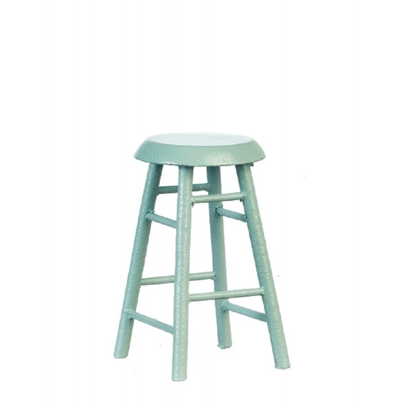 Dolls House Grey 4 Legged Breakfast Bar Stool Miniature Kitchen Cafe Furniture