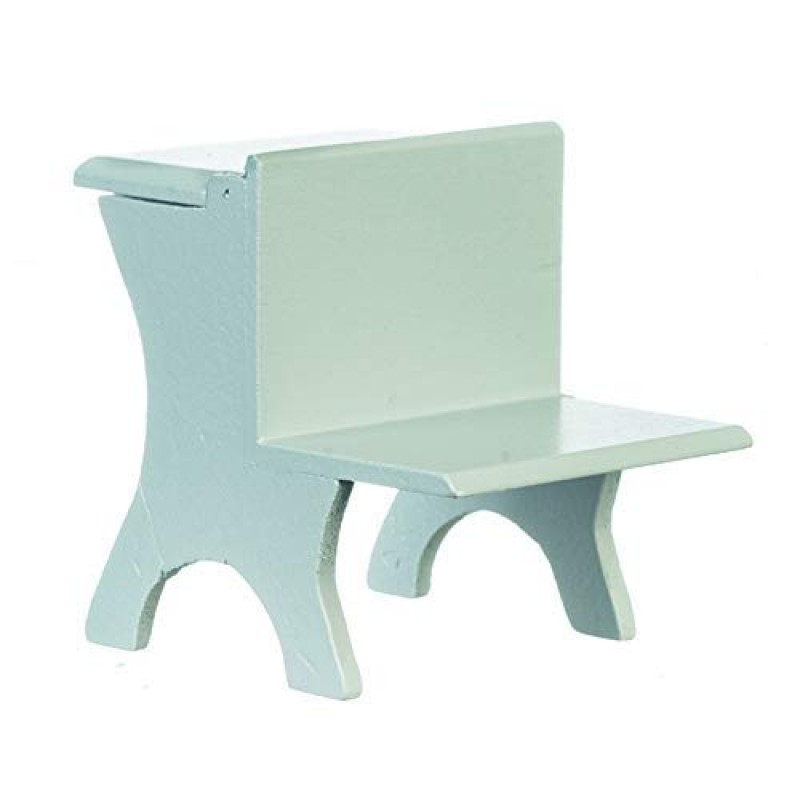 Dolls House Grey Wooden Child's Desk Old Fashioned School Furniture 1:12 Scale