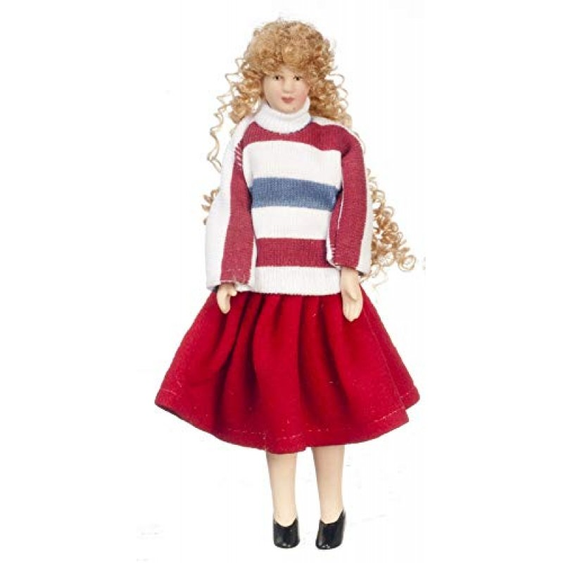 Dolls House Modern Lady Woman Mother Miniature 1:12 Scale Porcelain People