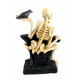 Dolls House Miniature Halloween Macabre Grave Yard Head Stone with Skeleton