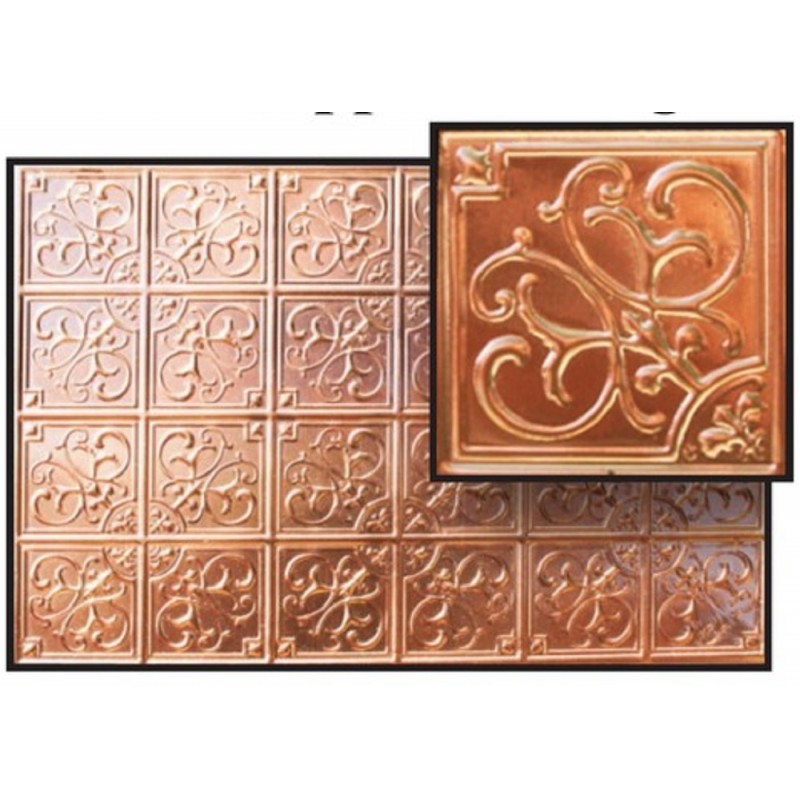 Dolls House Tin Ceiling Real Copper Miniature 1:12 Scale 9.3/4  x  6.3/4 inches