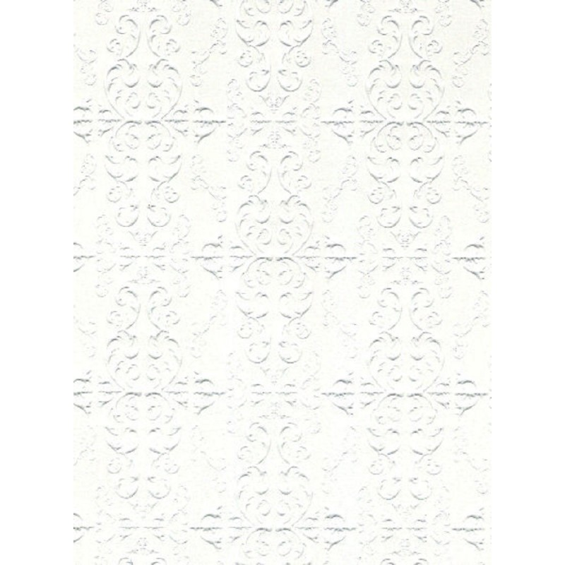 Dolls House Embossed Ceiling Paper Miniature Print Wallpaper 1:12 Scale