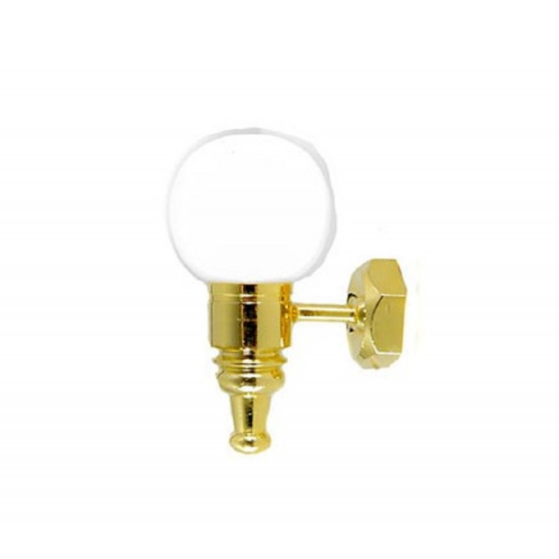 Dolls House Wall Light White Globe Shade 12V Lamp Miniature Electric Lighting