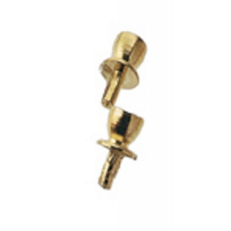 Dolls House Miniature Hardware Furniture Fittings 6 Brass Drawer Pulls Handles