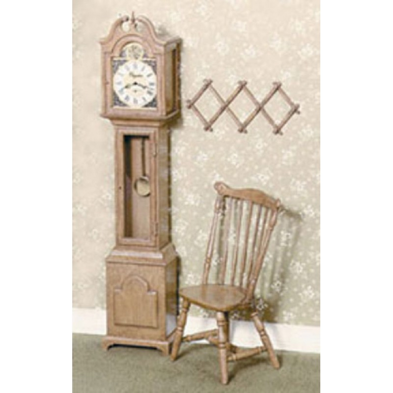 Dolls House Chrysnbon Grandfather Clock & Duxbury Chair Kit 1:12 Model Kit F-100
