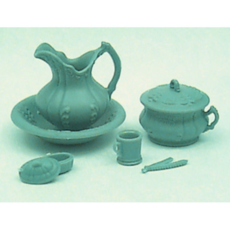 Chrysnbon Dolls House Blue Chamber Pot Set 1:12 Model Kit M-159