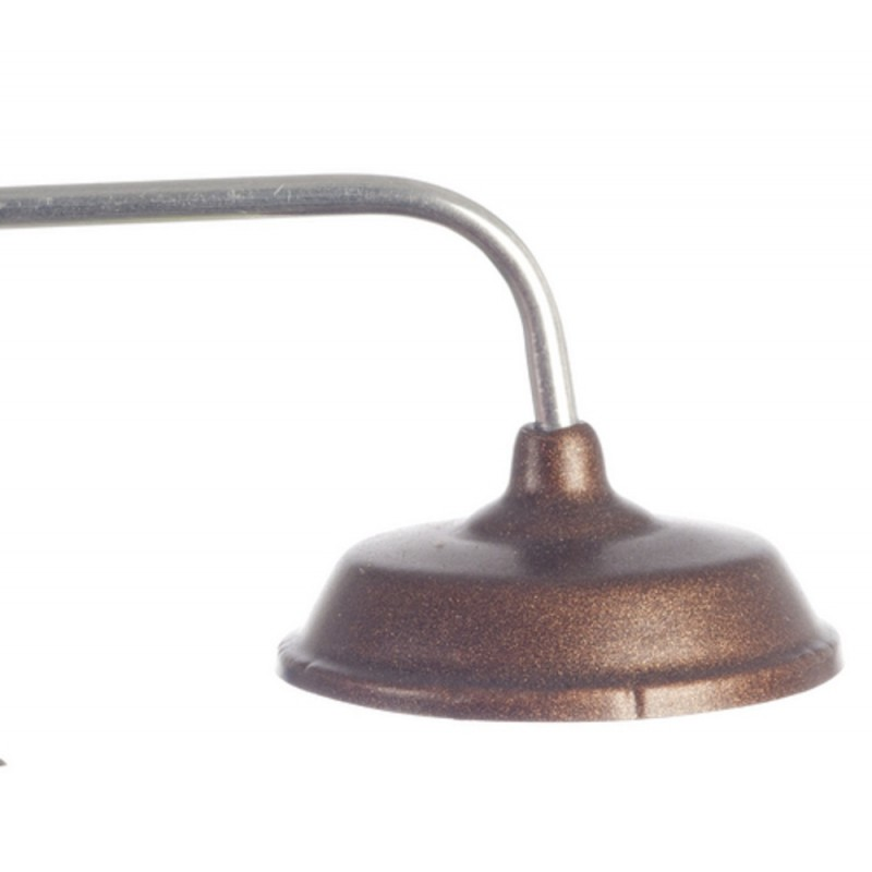 Dolls House Overhead Light with Copper Shade Miniature 12V Electric Lighting