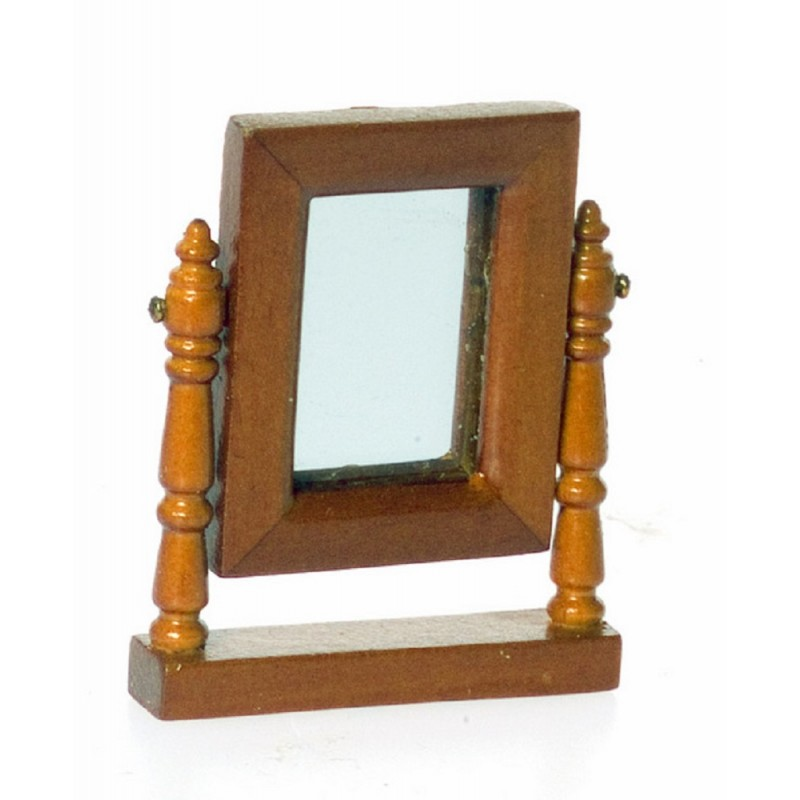 Dolls House Miniature Bedroom Accessory Lincoln Walnut Dresser Mirror