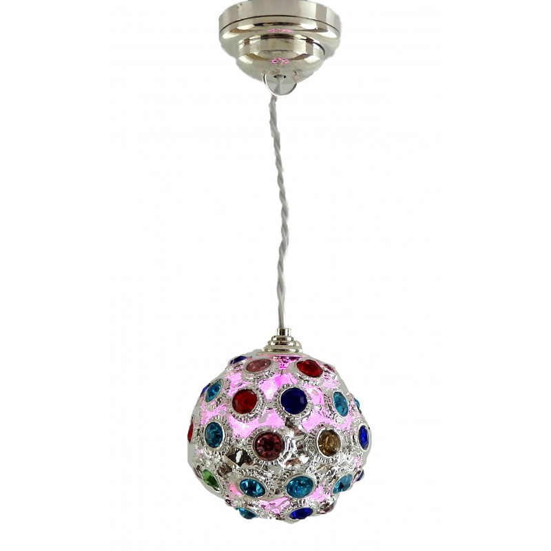 Dolls House Disco Ball Colour Changing Modern LED Battery Ceiling Light