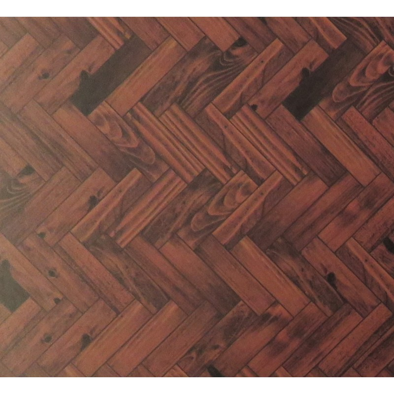 Dolls House Parquet Floor Sheet Gloss Card Dark Oak Miniature 1:12 Flooring