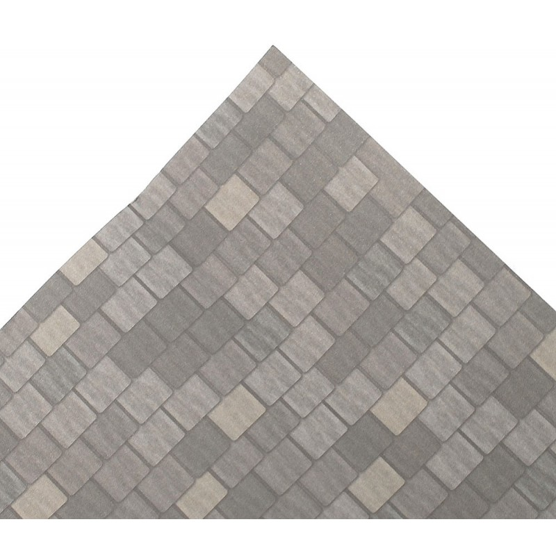 Dolls House Grey Roof Tile Sheet Miniature Print Exterior Wallpaper Long