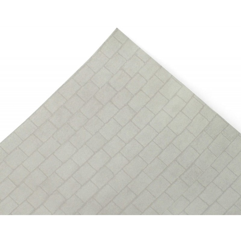 Dolls House Grey Slate Roof Tile Paper Sheet Miniature Print Exterior Wallpaper