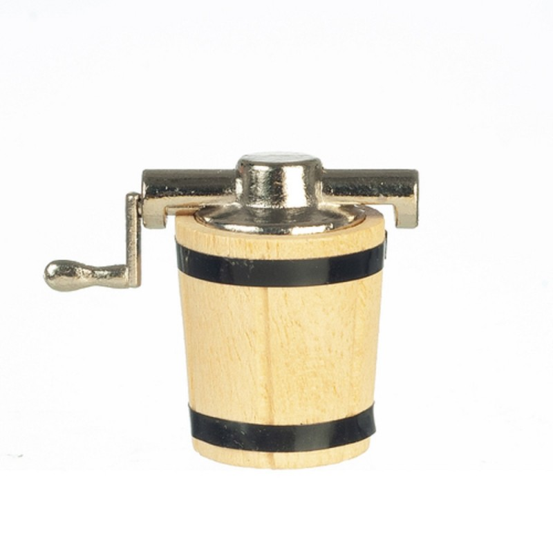 Dolls House Ice Cream Maker Old Fashioned Kitchen Store Shop Accessory