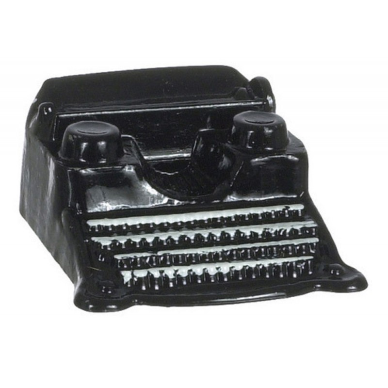 Dolls House Black Classic Typewriter Miniature 1:12 Study Office Desk Accessory