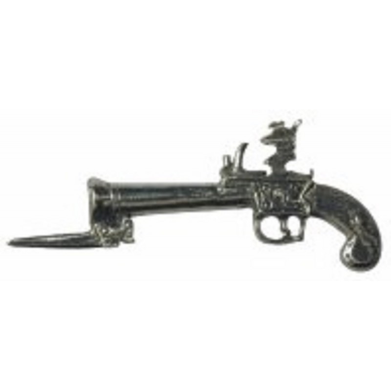 Dolls House 1:24 Scale Flintlock Pistol & Bayonet Wartime Ornamental Accessory