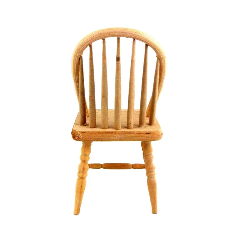 Dolls House Bare Wood Spindle Back Chair Miniature Unfinished Furniture