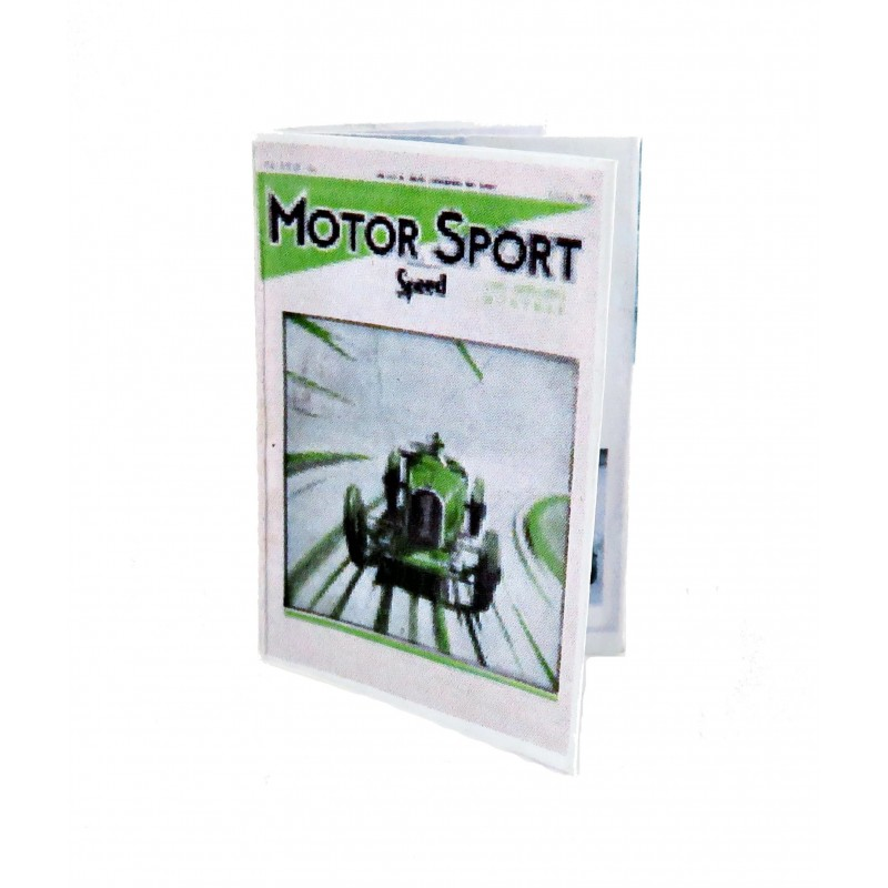 Dolls House 1950's Motor Sport Magazine 1:12 Miniature Study Room Accessory