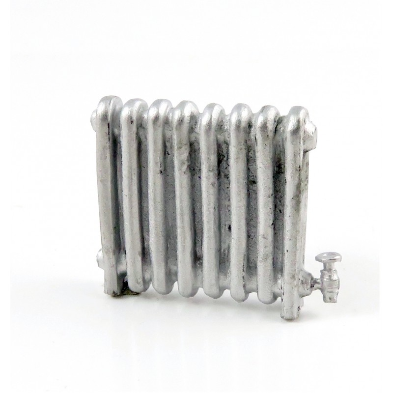 Dolls House 1930's Radiator Miniature 1:24 Scale Half Inch Metal Accessory