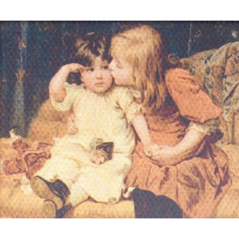 Dolls House Victorian Children Picture Painting Canvas Miniature Accessory