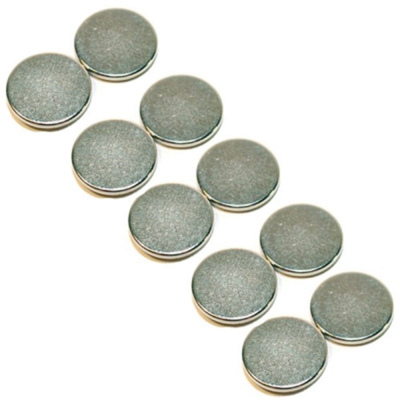 Dolls House 5 Pairs of Magnetic Discs For Holding Lights, Pictures etc 1cm Wide