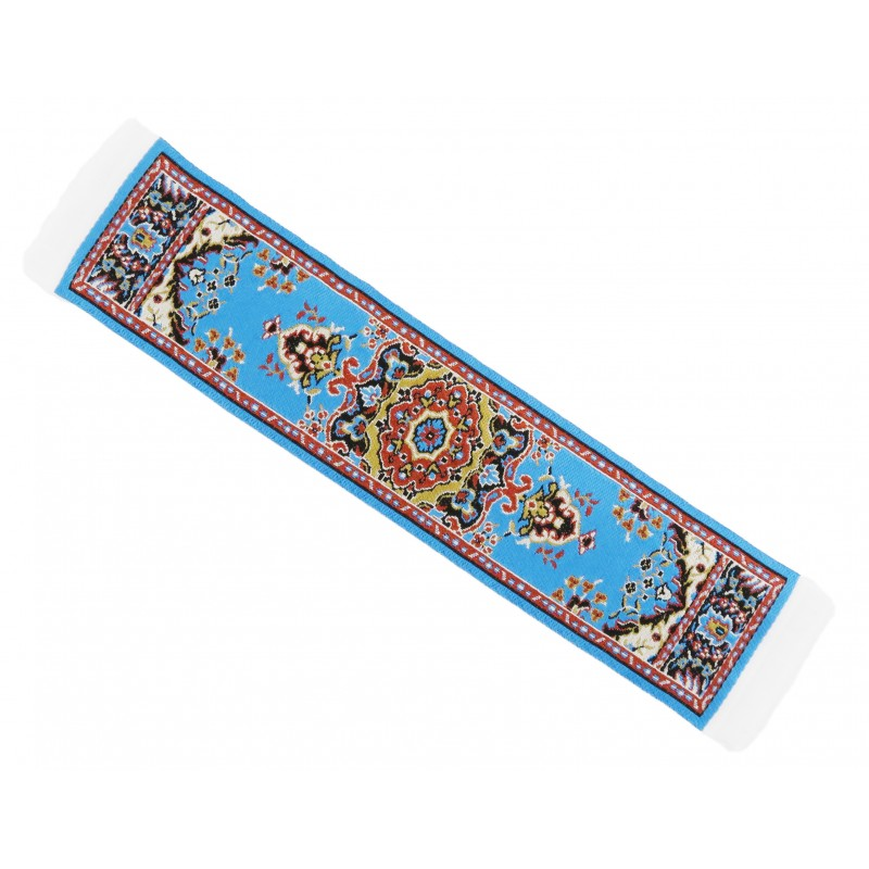 Dolls House Turquoise Turkish Woven Carpet Runner Miniature Rug 1:12 Scale