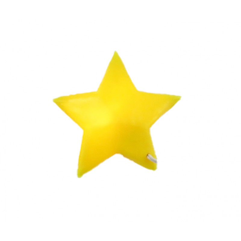 Dolls House Yellow Star Wall Light Miniature 12V Electric Lighting 1:12 Scale