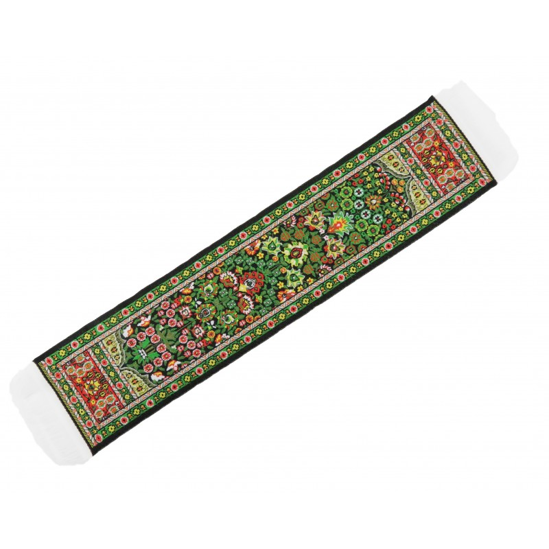 Dolls House Green & Red Turkish Woven Carpet Runner Miniature Rug 1:12 Scale