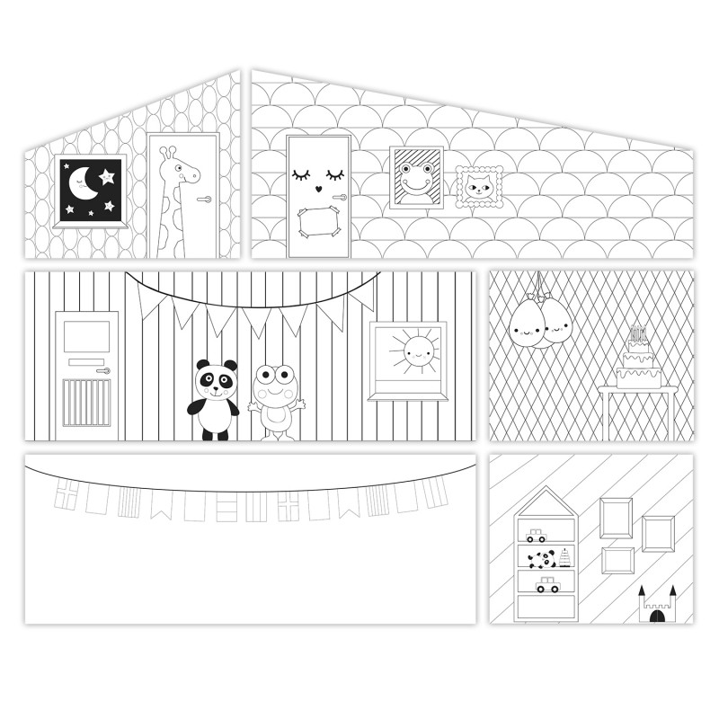 Dolls House Lundby Creative DIY Wall Set