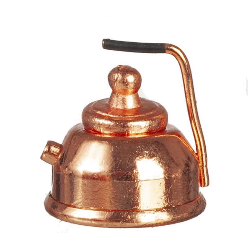 Dolls House Miniature 1:12 Scale Old Fashioned Kitchen Accessory Copper Kettle