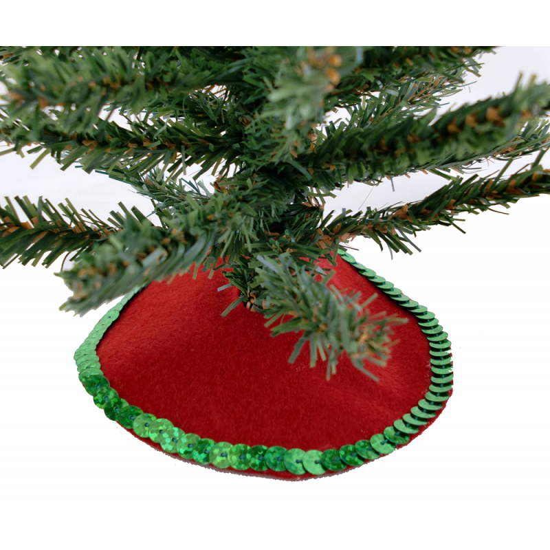 Dolls House Miniature 1:12 Scale Christmas Accessory Red Xmas Tree Skirt