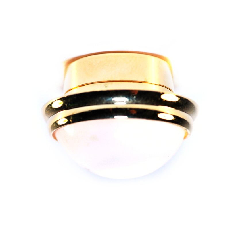 Dolls House Round Ceiling Light White Shade Brass LED Lighting Battery Lamp