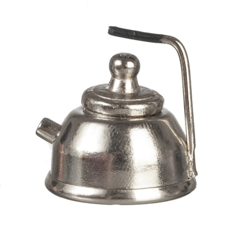 Dolls House Chrome Kettle Metal Kitchen Accessory Miniature 1:12 Scale