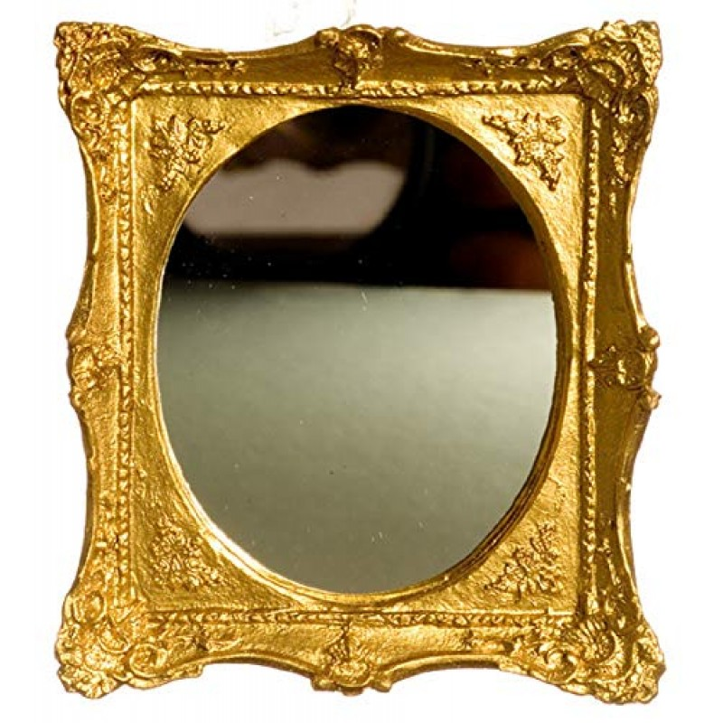 Dolls House Gold Framed Oval Mirror Falcon Miniature Accessory Rectangular