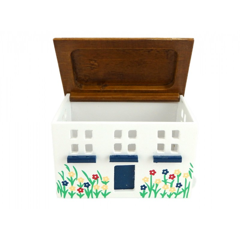Dolls House Painted 'Dollhouse' Toy Box Chest Trunk Miniature Nursery Furniture