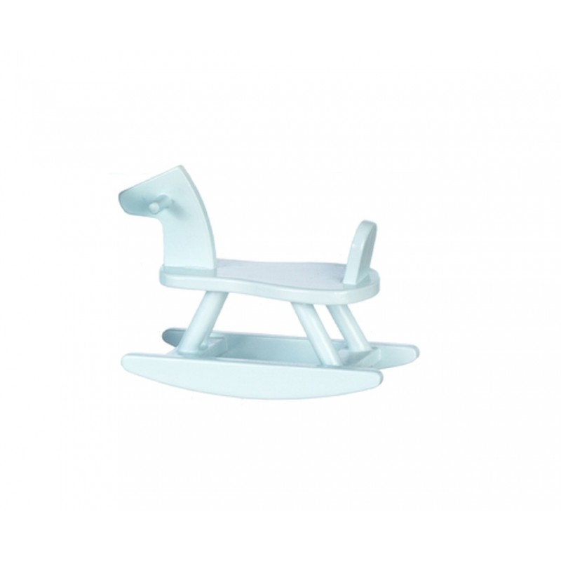 Dolls House Sit On Blue Rocking Horse Toy Shop Nursery Accessory