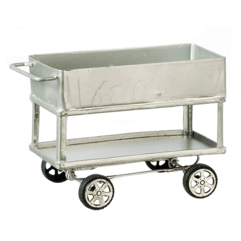 Dolls House Commercial Trolley Utility Cart Catering Service Work Accessory